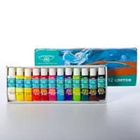 Набор краски акриловые водостойкие Global 12 цв 6 мл
