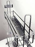 Карго 2-х уровневое Viole А31010HL 150 мм с доводом Боковое крепление Левое Хром (18969)