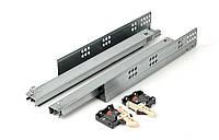 Направляющие полного выдвижения GTV PB-0SHX-350-A с доводом 350 мм Серый (28645)