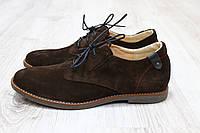 Туфли  на шнурках коричневая замша Hilfiger