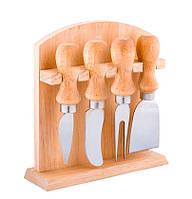 Набор  ножей для сыра на подставке из нержавеющей стали, фото 1