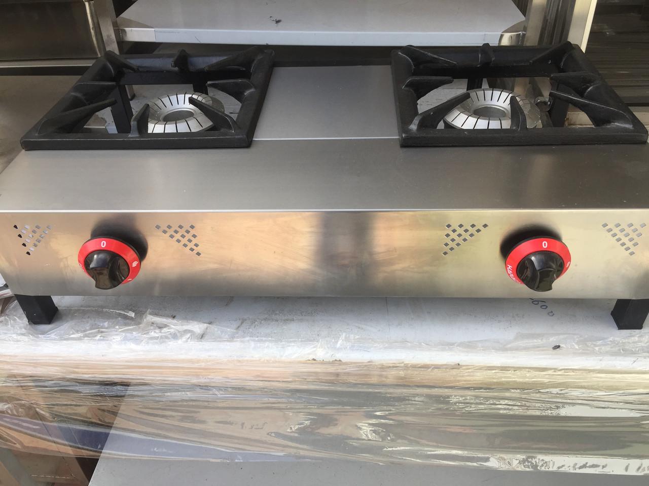 Плита промышленная газовая 2-х комфорочная Pimak LPG-газ (Конфорки 310х320 мм)