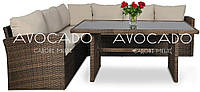 Комплект плетеной мебели  CAPRIZE  BRAUN  184х242  см + стол