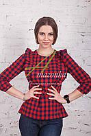 Молодежная женская блузка-рубашка от производителя с кружевом весна 2017 - (код бл-90)