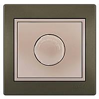 MIRA Димер 1000 W світло-коричневий перламутр, з перлинно-білою вставкою Lezard (701-3130-157)