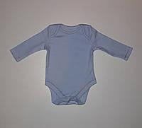 Боди с длинным рукавом детский голубой George 56-62 см