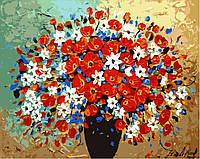 Картина по номерам Пестрый букет (арт. KH304) 40 х 50 см