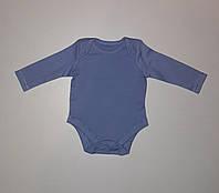 Боди с длинным рукавом детский синий George 56-62 см
