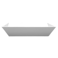 Глубокая квадратная тарелка 215x215 мм Classic Lubiana 2521