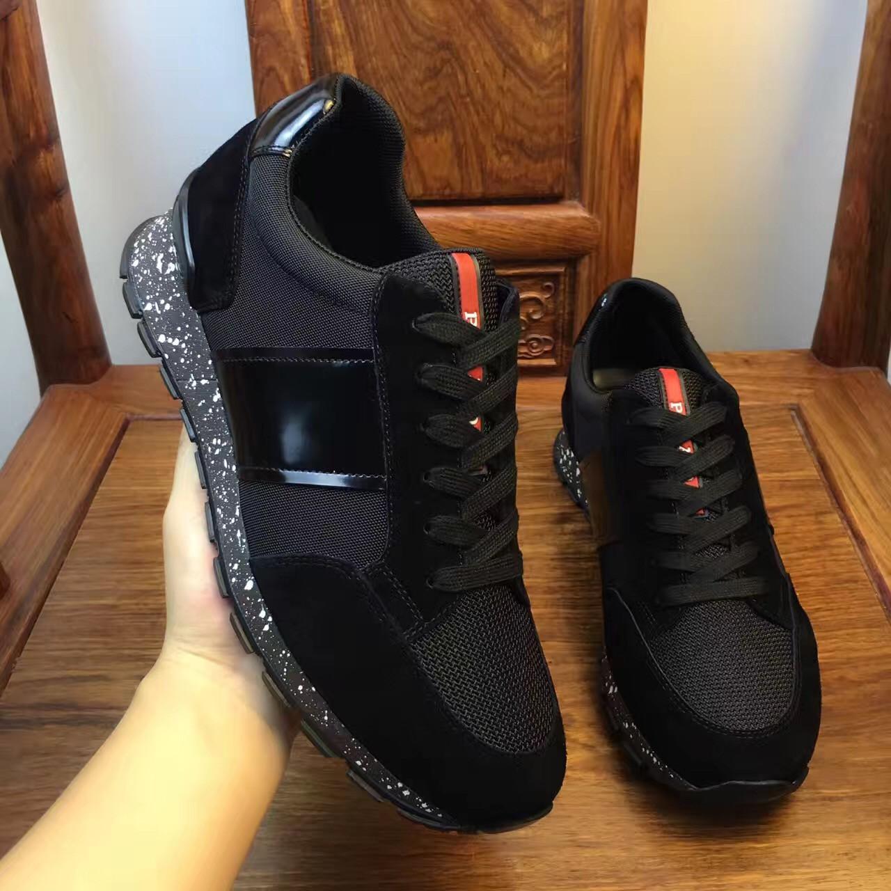 Мужские кроссовки Prada черные