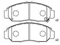 Колодки тормозные передние ACCORD VII