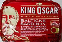 Сардины в пикантном томате King Oskar Balticke Sardinky v pikantni tomatove 110h.