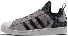 Мужские кроссовки Adidas Superstar Boost Bape X Neighborhood Grey Black CG2917, Адидас Суперстар