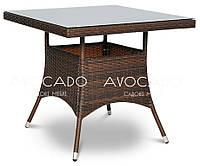 Стол квадратный  плетеный  horeca  LUGA   80х80см