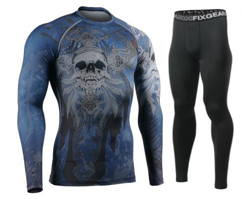 Комплект Рашгард Fixgear и компрессионные штаны CFL-86+FPL-BB