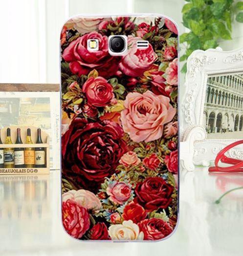 Силиконовый чехол бампер для Samsung Galaxy Grand Neo i9060 i9062 i9080 i9082 с картинкой Розы