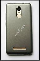 TPU бампер чехол для Xiaomi Redmi Note 3 Pro SE, мягкий серебристый