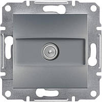 Розетка ТВ конечная  Schneider-Electric Asfora EPH3200162 сталь