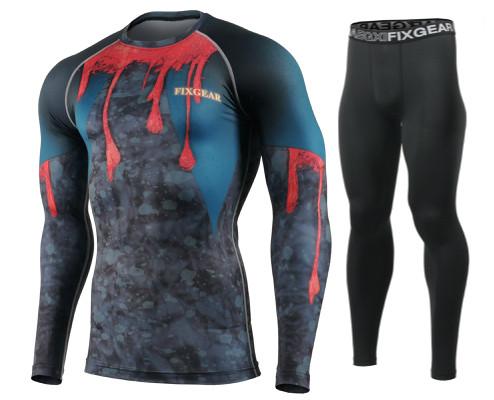Комплект Рашгард Fixgear и компрессионные штаны CFL-91+FPL-BB
