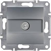 Розетка ТВ проходная  Schneider-Electric Asfora EPH3200262 сталь