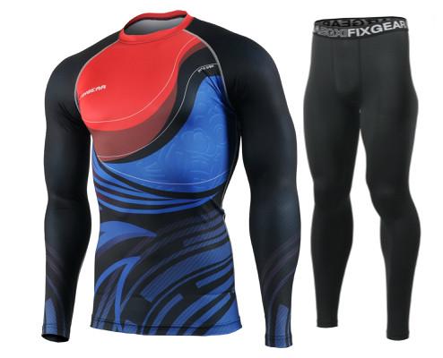 Комплект Рашгард Fixgear і компресійні штани CFL-93+FPL-BB