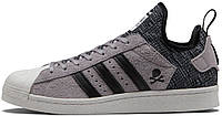 Женские кроссовки NBHD BAPE ADIDAS Superstar80s Boost Grey