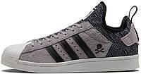 Женские кроссовки Adidas Superstar Boost Bape X Neighborhood Grey Black CG2917, Адидас Суперстар