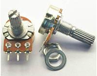 Потенциометр (переменный резистор) линейный роторный.  Сопротивление 10 КОм. 1 шт