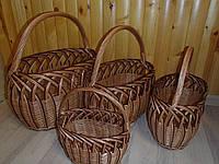 Набор корзин 4 шт. Тип рыбак протянутый, фото 1
