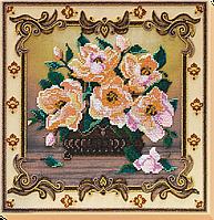 Набор для вышивания бисером на художественном холсте Баллада о цветах