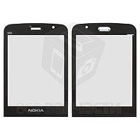 Стекло корпуса для мобильного телефона Nokia N96, черное