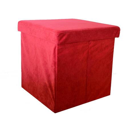 Пуф-ящик складной красный, Украина, 1131PF, фото 2