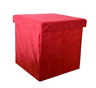 Пуф-ящик складной красный, Украина, 1131PF