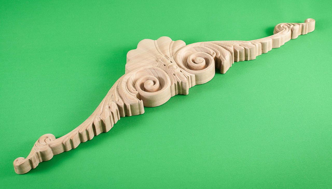 Код КОР 3. Деревянный резной декор для мебели. Короны