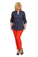 """Блуза-рубашка """"Инга"""" - Модель 1172-4 (52) (ф)"""