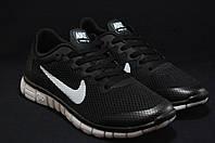 Nike Free Run 3.0 беговые женские черные кроссовки