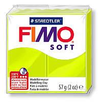 Полимерная глина пластика Фимо Софт Fimo Soft 56 г - лайм 52