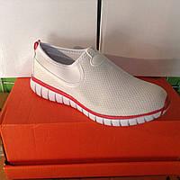 Женские кроссовки №1017 (белые)