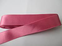 Стрічка атласна  двостороння 3 см ( 10 метрів) рожева насичена G-405