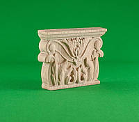 Код ПЛ 3. Деревянный резной декор для мебели. Капитель, фото 1