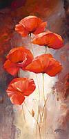 Картины по номерам Идейка Нежные маки (арт. KH2917) 35 х 50 см