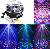 Диско-шар LED RGB Magic Ball Light MP3 + USB