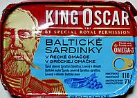 Сардины в грецком соусе King Oskar Balticke Sardinky v Greckej omacke 110h.