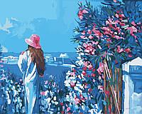 Картина по цифрам Идейка Голубая даль (арт. KH2119) 40 х 50 см