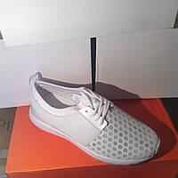 Женские кроссовки №1019 (белые)