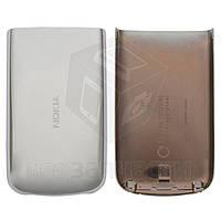 Задняя крышка батареи для мобильного телефона Nokia 6700c, серебристая, high copy