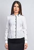 Рубашка с планкой белая/темно-синяя