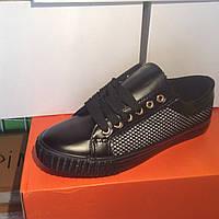 Женские кроссовки №1021 (черные)