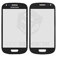 Стекло корпуса для мобильного телефона Samsung I8190 Galaxy S3 mini, синее