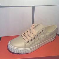 Женские кроссовки №1021 (белые)